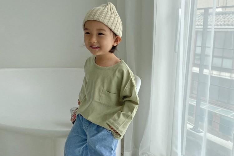 OOTT BEBE - BRAND - Korean Children Fashion - #Kfashion4kids - Back Slit Tee
