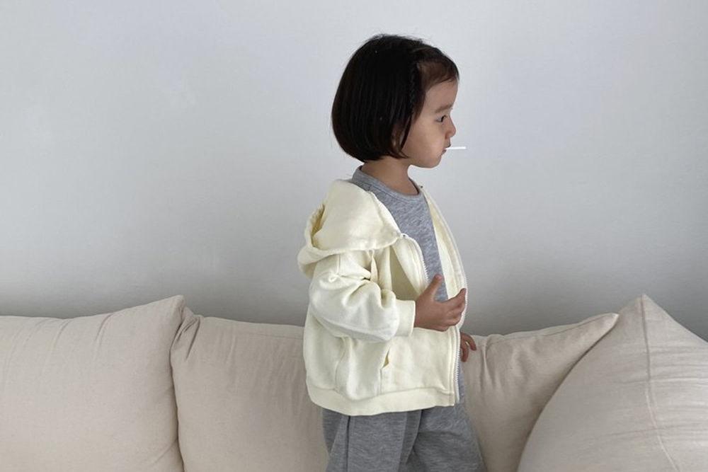OOTT BEBE - BRAND - Korean Children Fashion - #Kfashion4kids - Warm Knit Hood Jumper