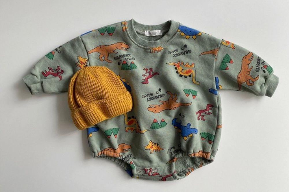 OOTT BEBE - BRAND - Korean Children Fashion - #Kfashion4kids - Saurus Bodysuit