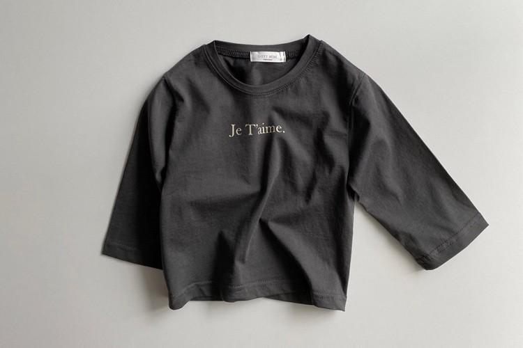 OOTT BEBE - BRAND - Korean Children Fashion - #Kfashion4kids - Mom Je T'aime Tee