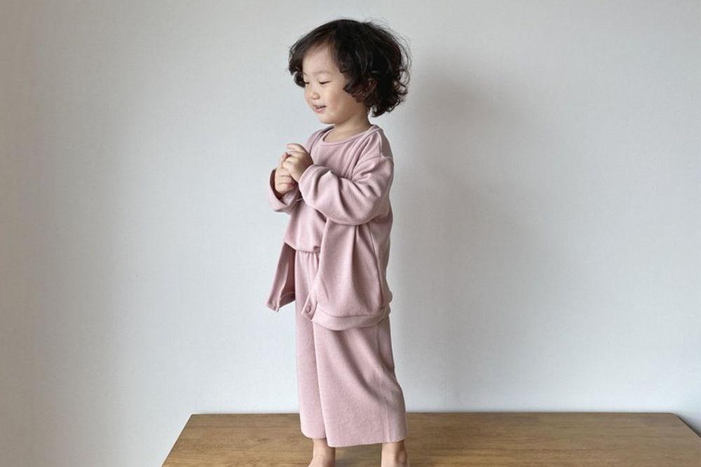 OOTT BEBE - BRAND - Korean Children Fashion - #Kfashion4kids - Masil Top Bottom Set with Cardigan
