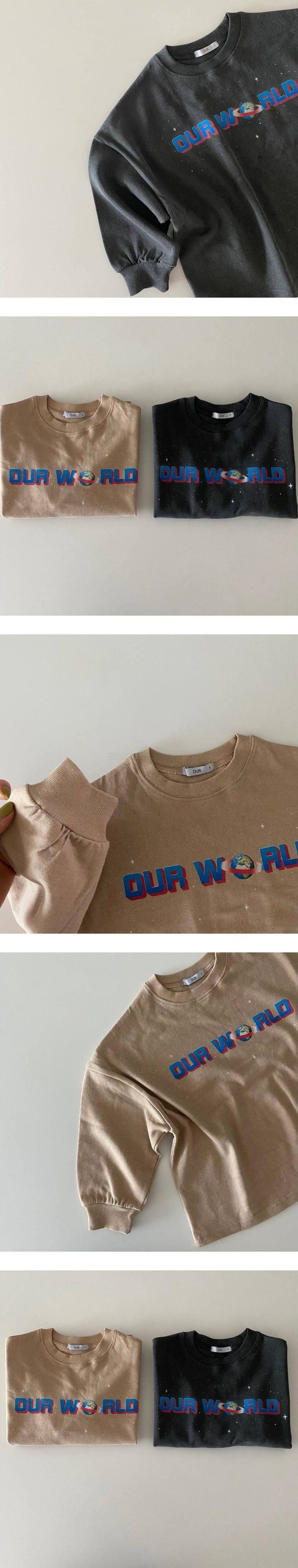 OUR - Korean Children Fashion - #Kfashion4kids - Our World Tee - 3