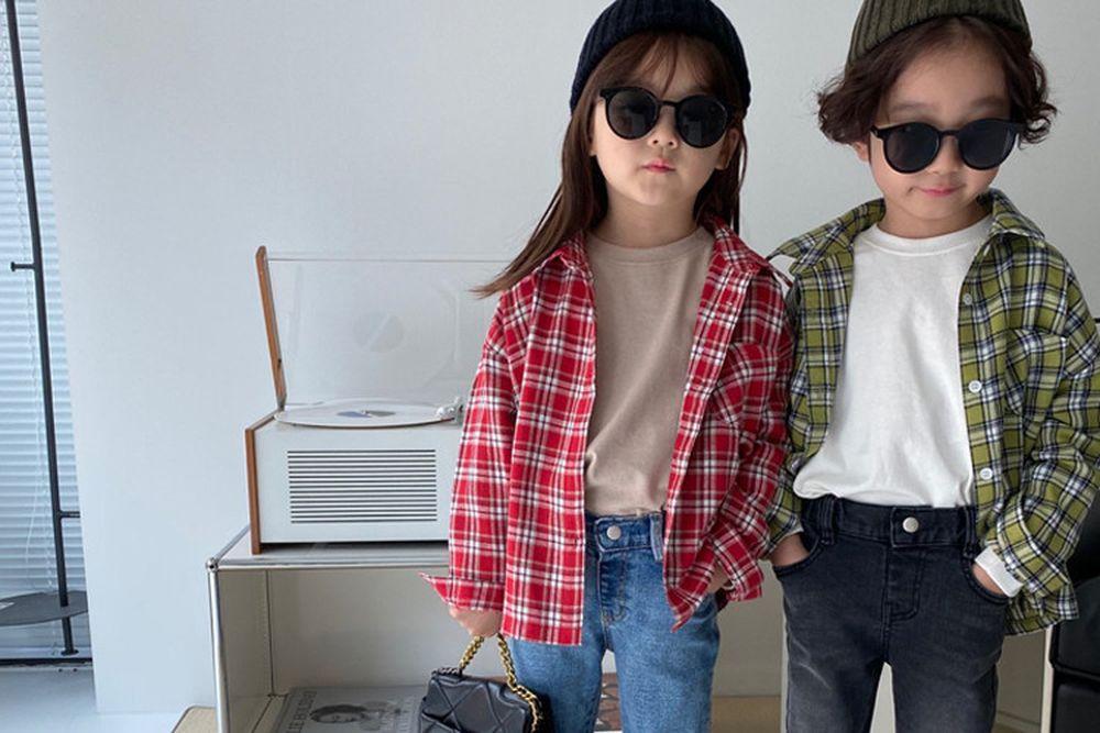 OUR - BRAND - Korean Children Fashion - #Kfashion4kids - Nature Check Shirt