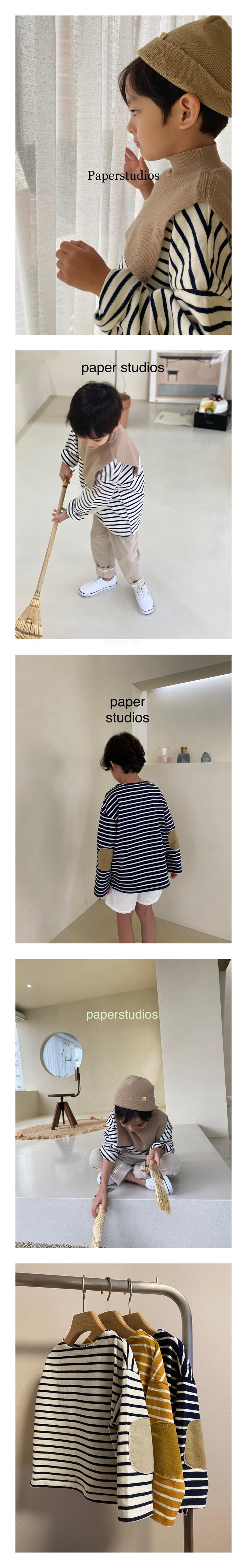 PAPER STUDIOS - Korean Children Fashion - #Kfashion4kids - Stripe Tee