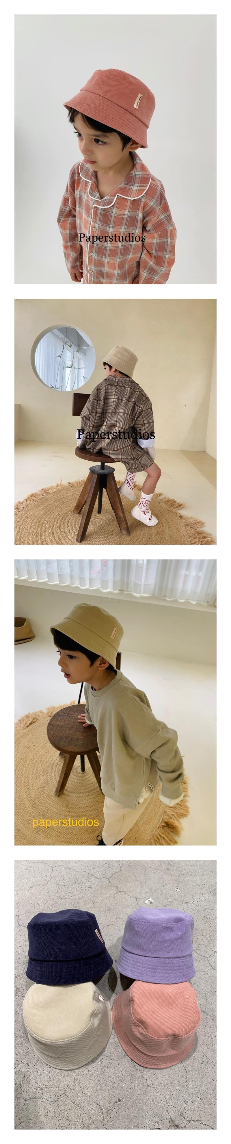 PAPER STUDIOS - Korean Children Fashion - #Kfashion4kids - Corduroy Bucket Hat