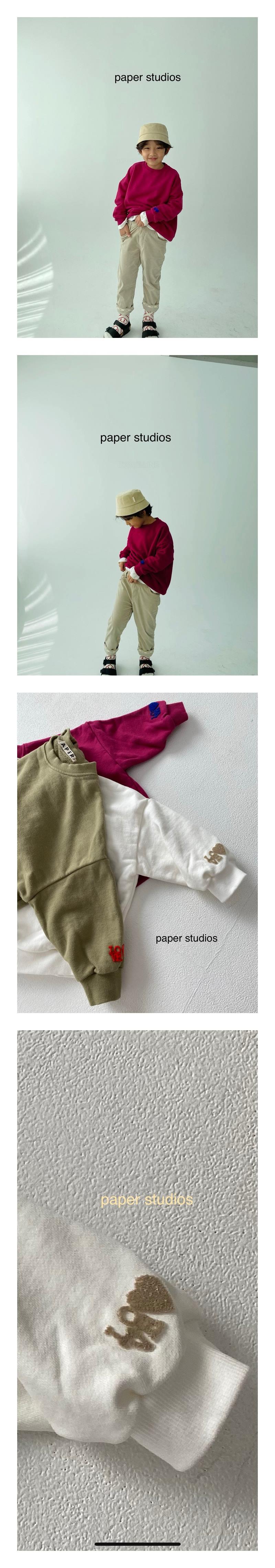PAPER STUDIOS - Korean Children Fashion - #Kfashion4kids - Love Velvet Embroidery MTM