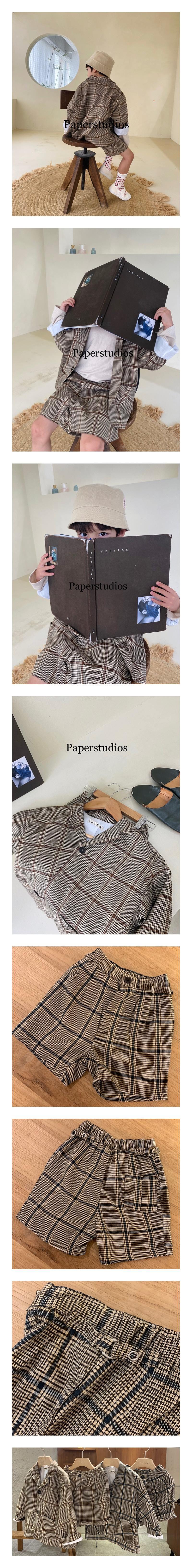 PAPER STUDIOS - Korean Children Fashion - #Kfashion4kids - Martin Check Pants