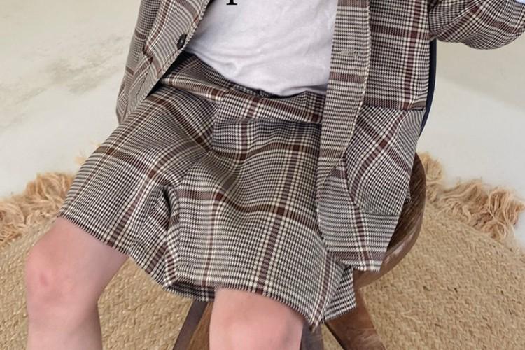 PAPER STUDIOS - BRAND - Korean Children Fashion - #Kfashion4kids - Martin Check Pants