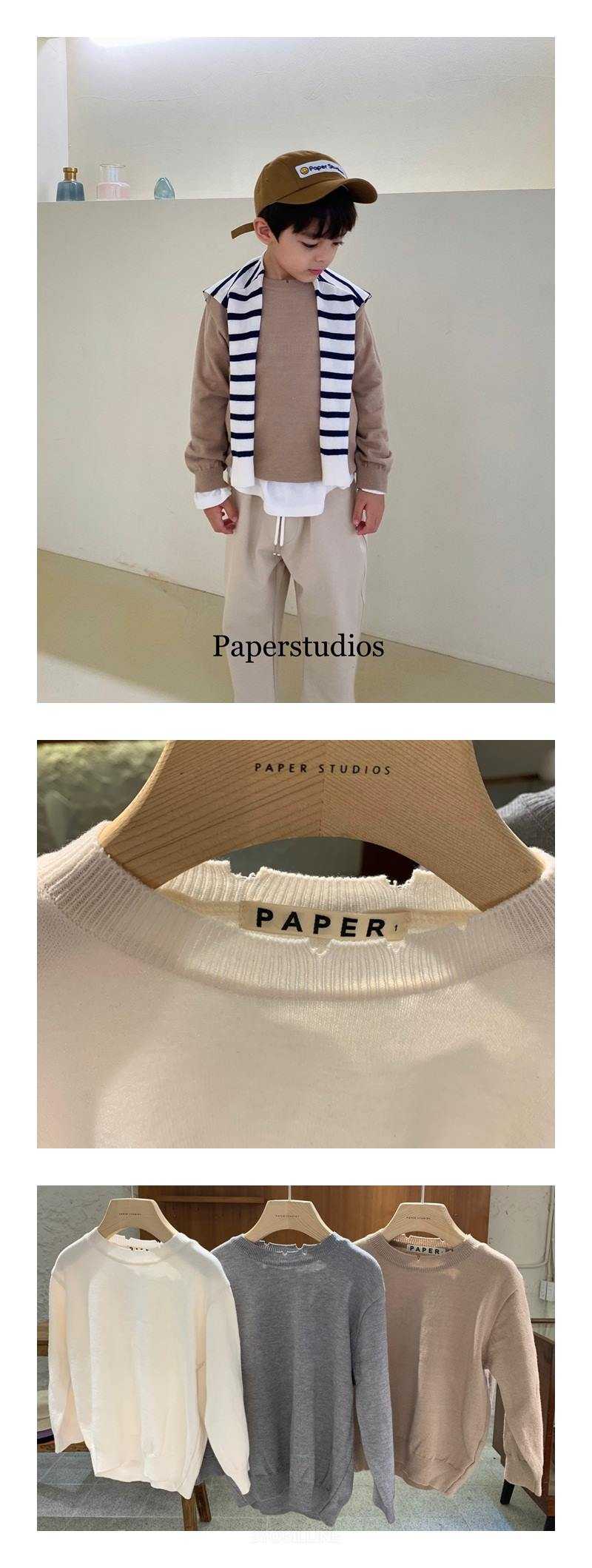 PAPER STUDIOS - Korean Children Fashion - #Kfashion4kids - Big Round Knit Pullover