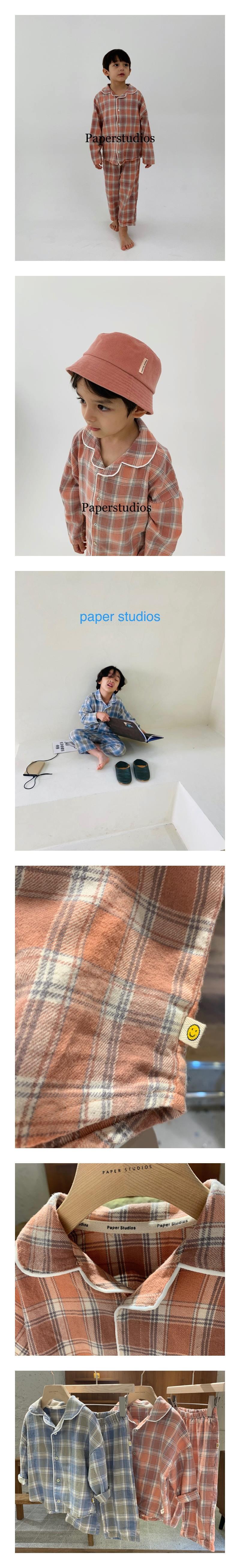 PAPER STUDIOS - Korean Children Fashion - #Kfashion4kids - Check Pajamas