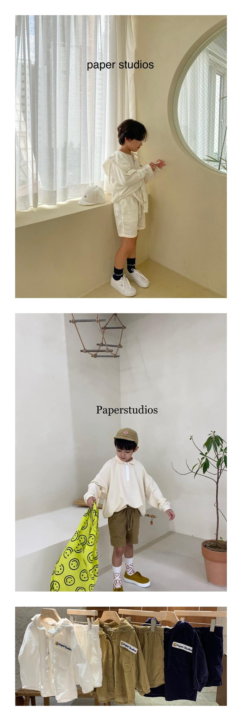 PAPER STUDIOS - Korean Children Fashion - #Kfashion4kids - Paper Corduroy Half Pants