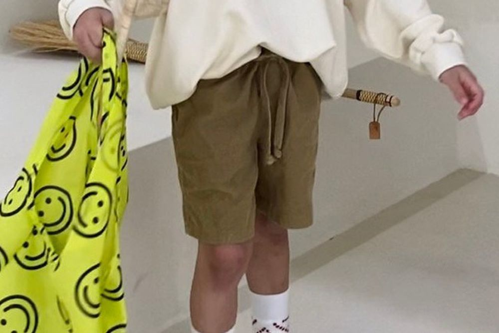 PAPER STUDIOS - BRAND - Korean Children Fashion - #Kfashion4kids - Paper Corduroy Half Pants