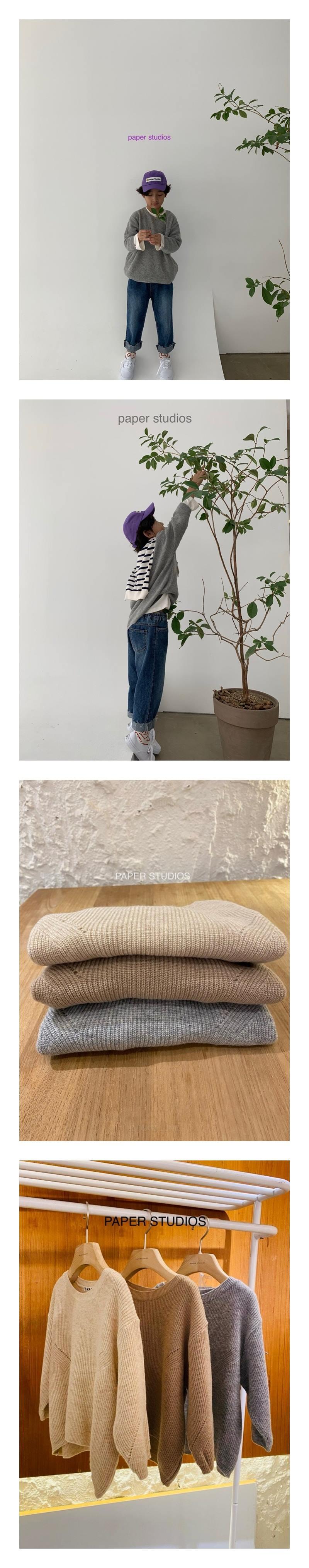 PAPER STUDIOS - Korean Children Fashion - #Kfashion4kids - Hazzi Round Knit Pullover