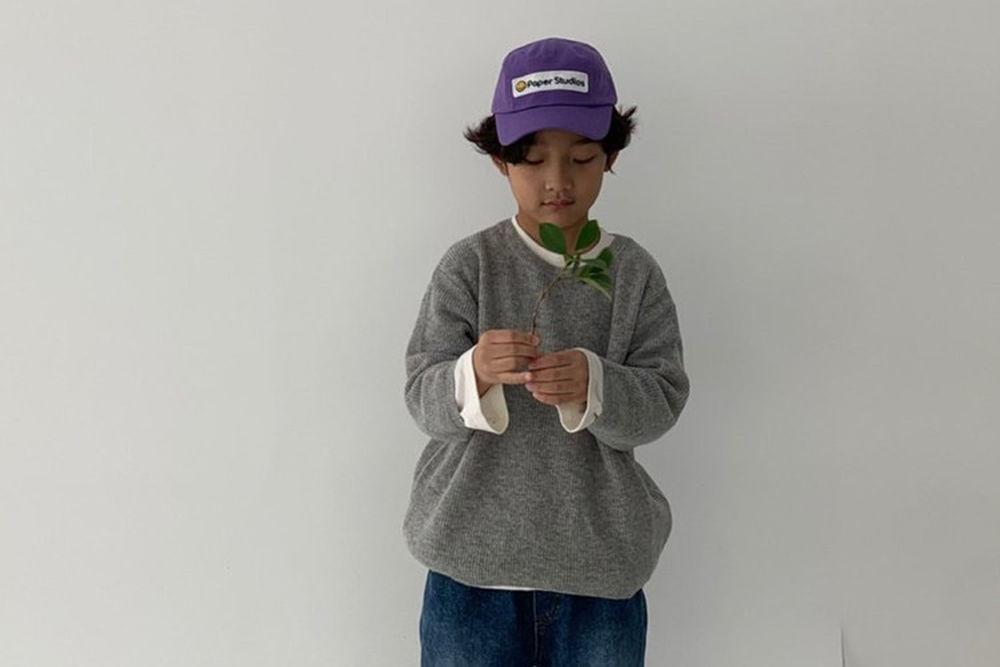 PAPER STUDIOS - BRAND - Korean Children Fashion - #Kfashion4kids - Hazzi Round Knit Pullover