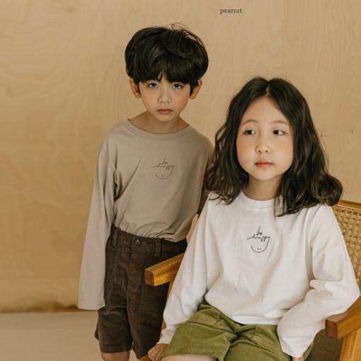 PEANUT - BRAND - Korean Children Fashion - #Kfashion4kids - Smile Embroidery Tee