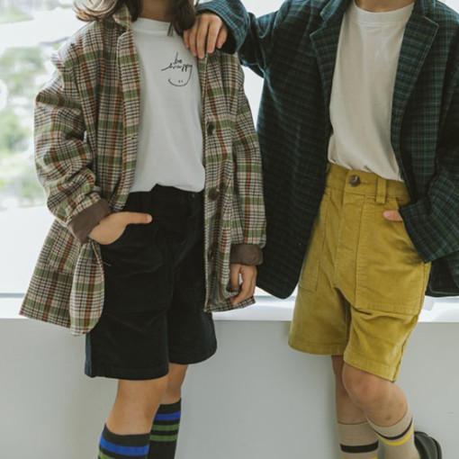 PEANUT - BRAND - Korean Children Fashion - #Kfashion4kids - Block Half Pants