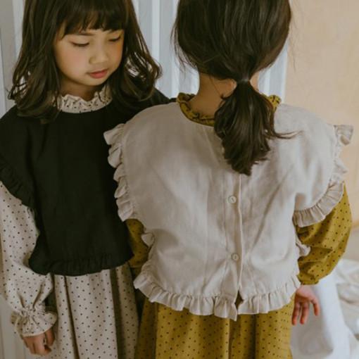PEANUT - BRAND - Korean Children Fashion - #Kfashion4kids - Frill Bustier