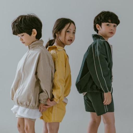 PEANUT - BRAND - Korean Children Fashion - #Kfashion4kids - Windbreaker Top Bottom Set