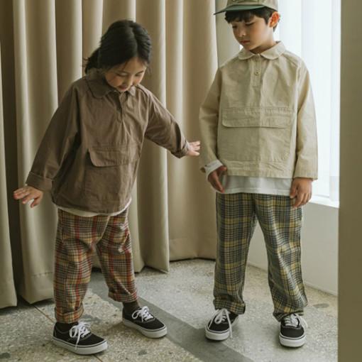 PEANUT - BRAND - Korean Children Fashion - #Kfashion4kids - Frad Check Pants