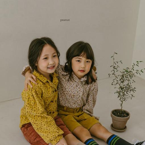 PEANUT - BRAND - Korean Children Fashion - #Kfashion4kids - Flower Blouse