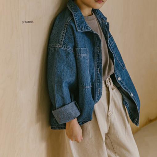 PEANUT - BRAND - Korean Children Fashion - #Kfashion4kids - Denim Shirt