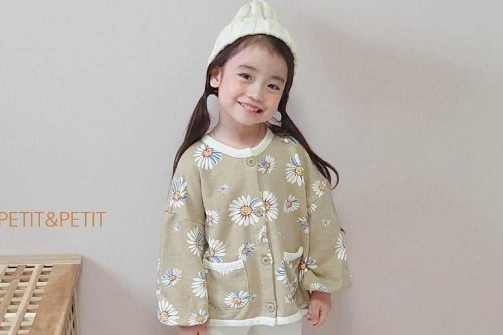 PETIT & PETIT - BRAND - Korean Children Fashion - #Kfashion4kids - Floral Jacket