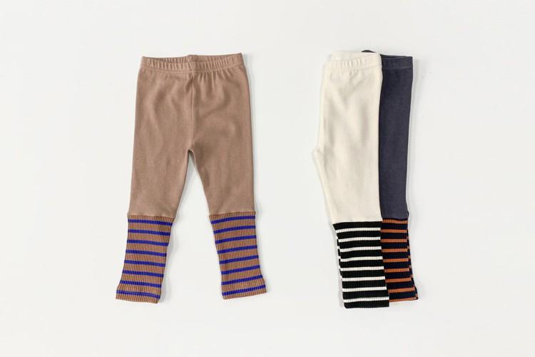 PETIT & PETIT - BRAND - Korean Children Fashion - #Kfashion4kids - Stripe Colored Leggings