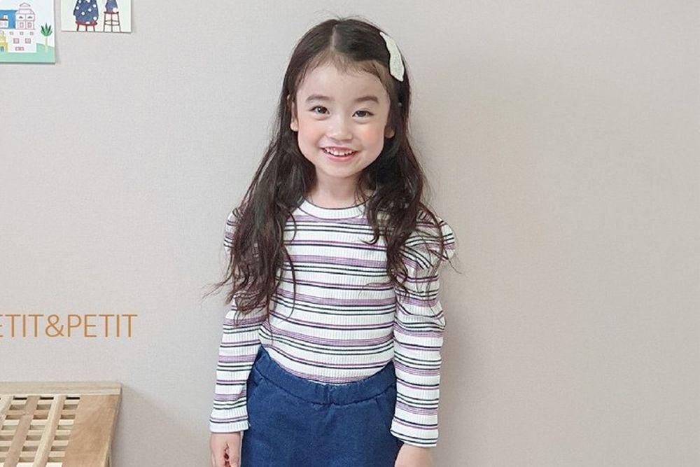 PETIT & PETIT - BRAND - Korean Children Fashion - #Kfashion4kids - Stripe Puff Tee