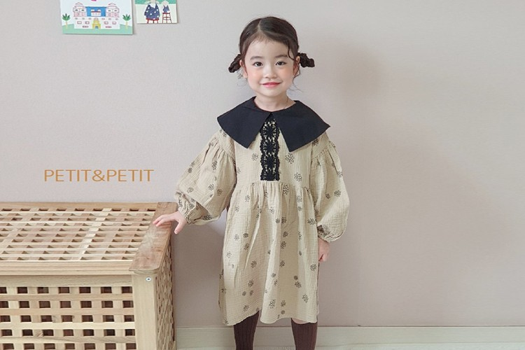 PETIT & PETIT - BRAND - Korean Children Fashion - #Kfashion4kids - Daisy One-piece