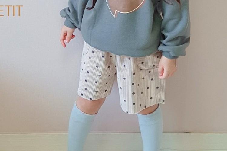 PETIT & PETIT - BRAND - Korean Children Fashion - #Kfashion4kids - Dot Corduroy Half Pants