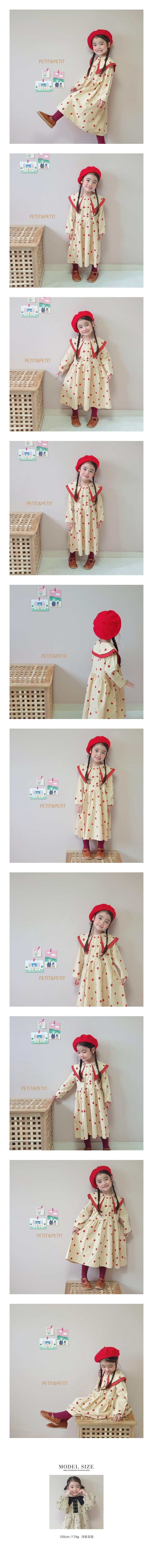 PETIT & PETIT - Korean Children Fashion - #Kfashion4kids - Dot Collar One-piece