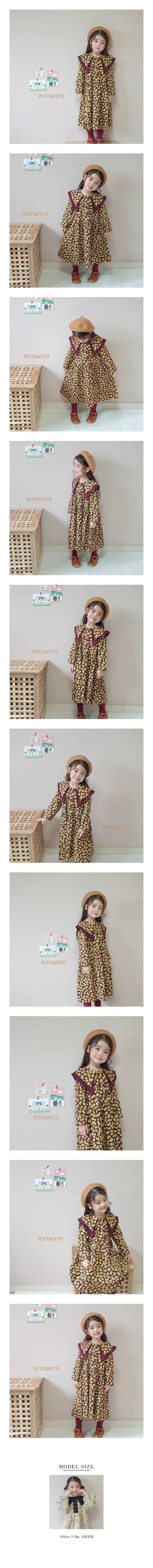 PETIT & PETIT - Korean Children Fashion - #Kfashion4kids - Love Collar One-piece