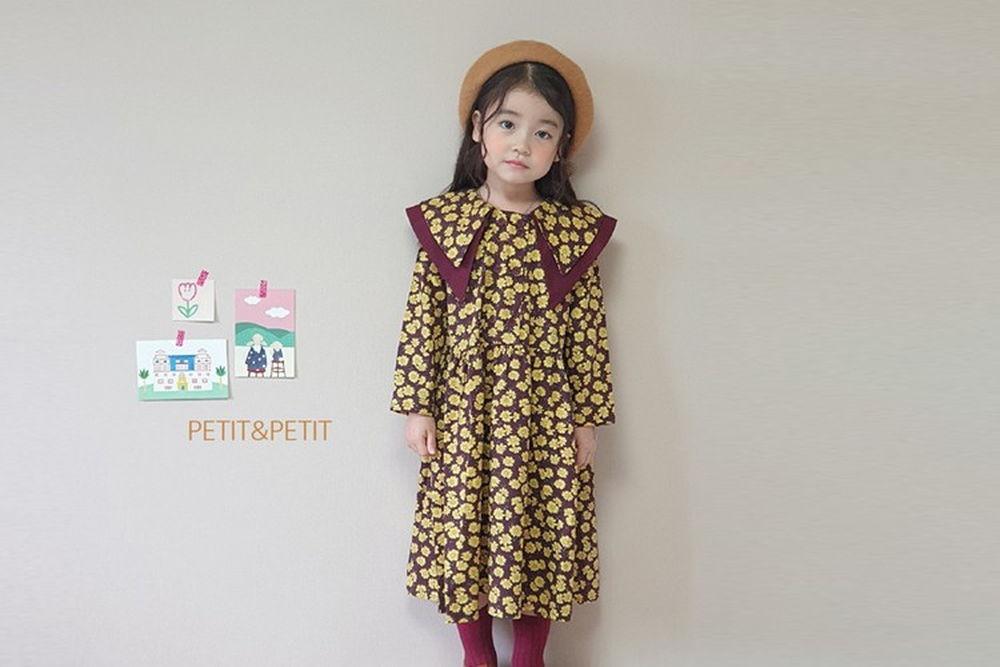 PETIT & PETIT - BRAND - Korean Children Fashion - #Kfashion4kids - Love Collar One-piece