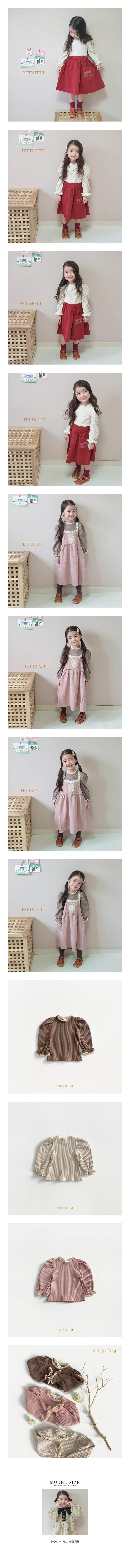 PETIT & PETIT - Korean Children Fashion - #Kfashion4kids - Lace Rib Tee