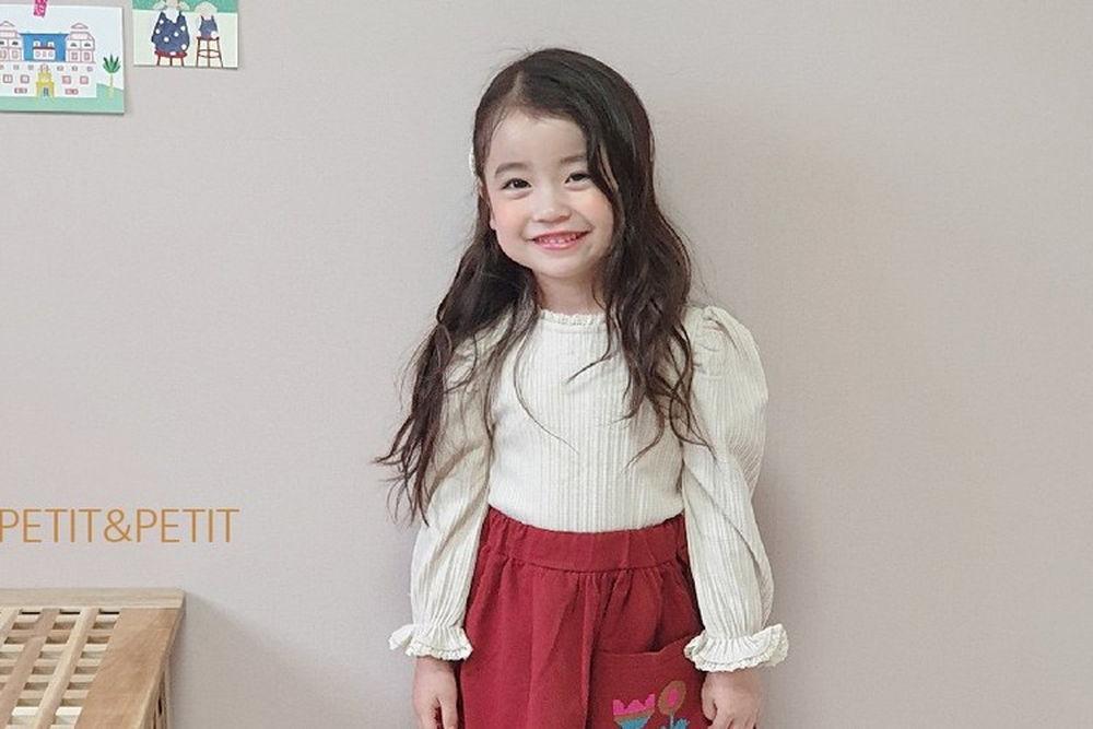 PETIT & PETIT - BRAND - Korean Children Fashion - #Kfashion4kids - Lace Rib Tee
