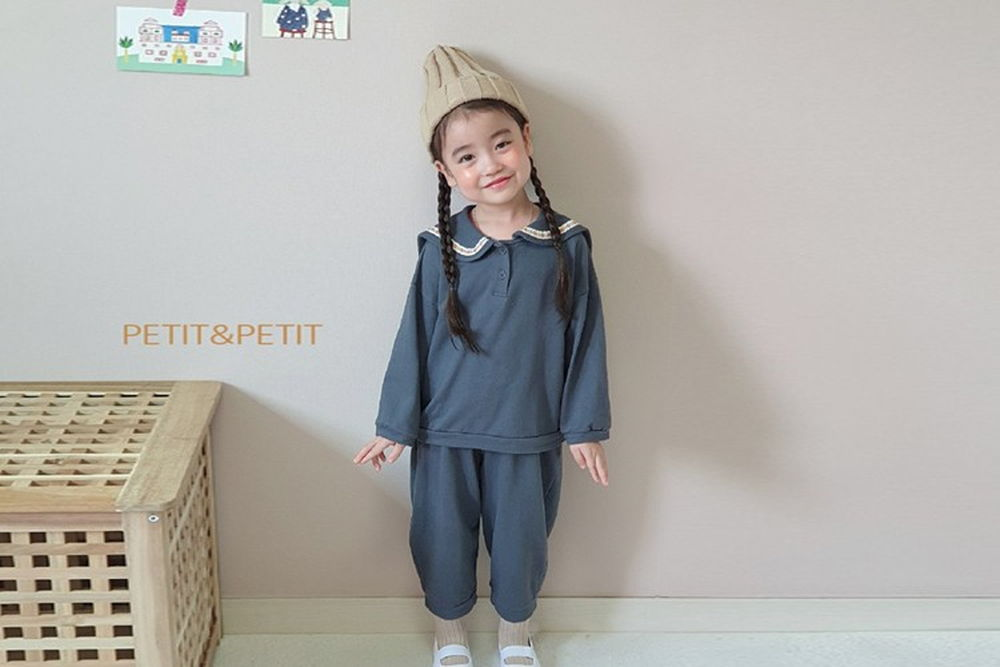 PETIT & PETIT - BRAND - Korean Children Fashion - #Kfashion4kids - Sailor Top Bottom Set