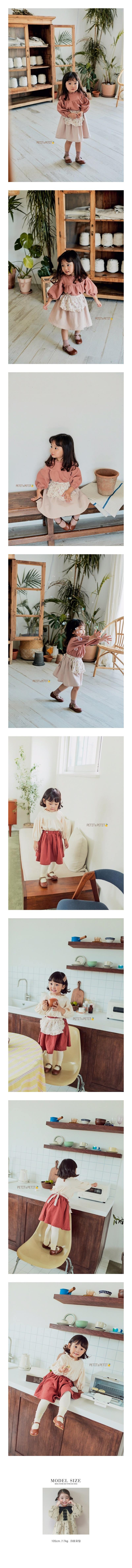 PETIT & PETIT - Korean Children Fashion - #Kfashion4kids - Apron Skirt