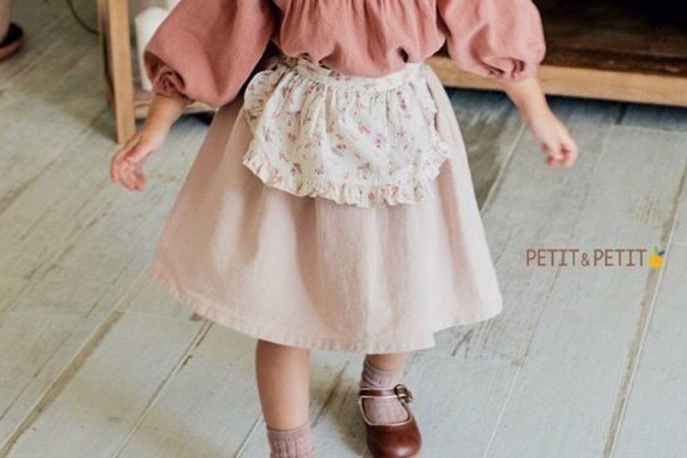 PETIT & PETIT - BRAND - Korean Children Fashion - #Kfashion4kids - Apron Skirt