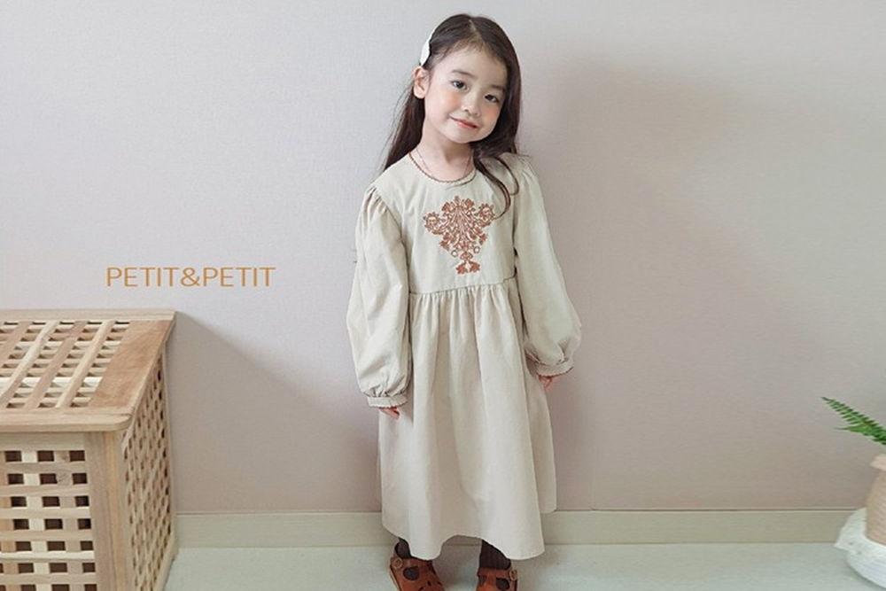 PETIT & PETIT - BRAND - Korean Children Fashion - #Kfashion4kids - Embroidery One-piece