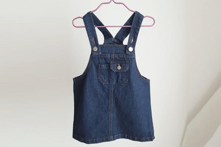 SMALL LABEL - BRAND - Korean Children Fashion - #Kfashion4kids - Denim Overalls Skirt