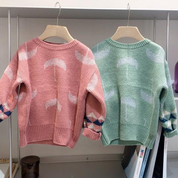 STUDIO M - BRAND - Korean Children Fashion - #Kfashion4kids - Umbrella Knit Pullover