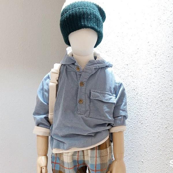 STUDIO M - BRAND - Korean Children Fashion - #Kfashion4kids - Lego Half Open Hoodie