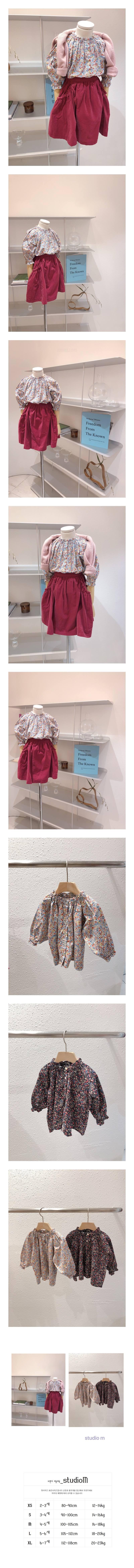 STUDIO M - Korean Children Fashion - #Kfashion4kids - Darling Flower Blouse