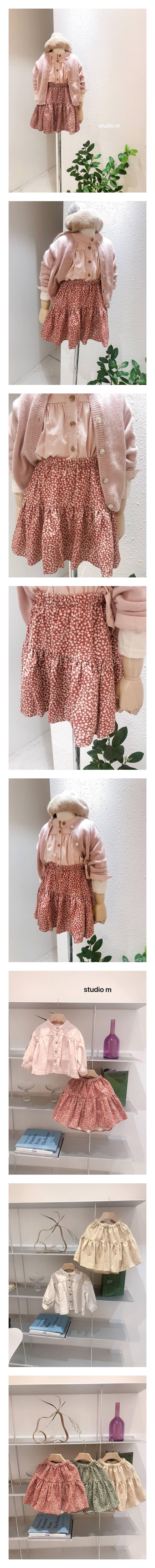 STUDIO M - Korean Children Fashion - #Kfashion4kids - Flower Print Skirt