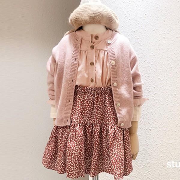 STUDIO M - BRAND - Korean Children Fashion - #Kfashion4kids - Flower Print Skirt
