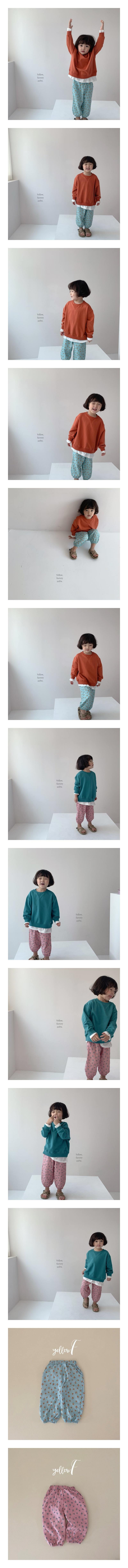 YELLOW FACTORY - Korean Children Fashion - #Kfashion4kids - Bread Floral Pants