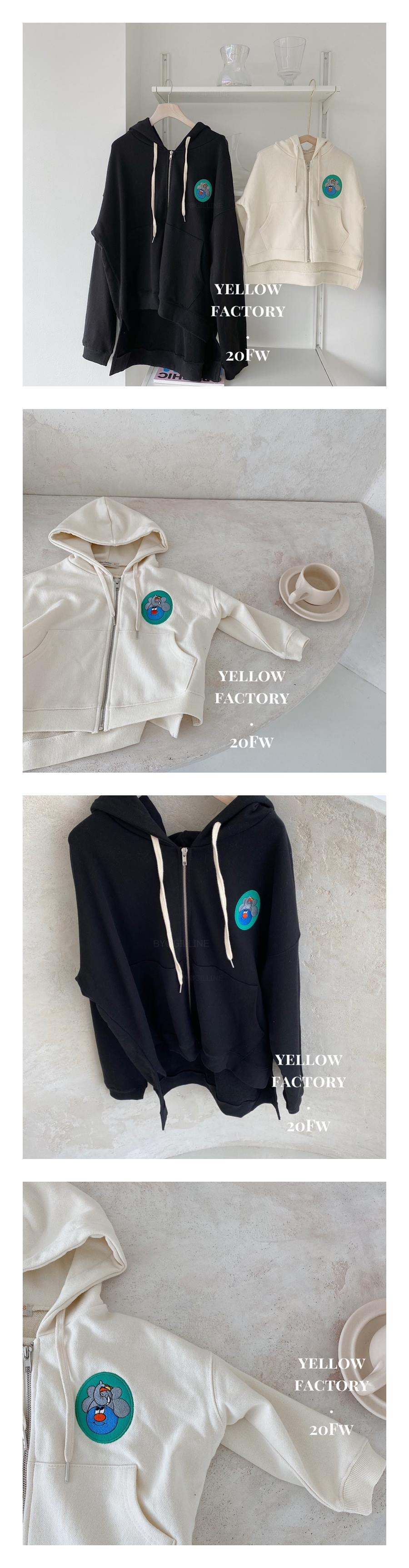 YELLOW FACTORY - Korean Children Fashion - #Kfashion4kids - Mom Uno Hood Zip-up Jacket