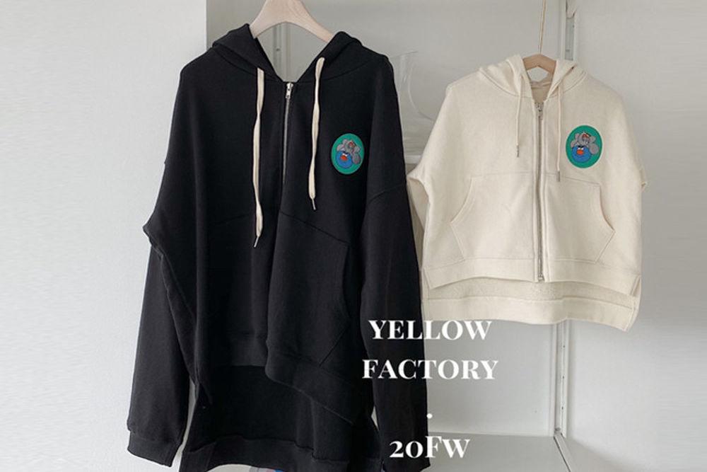 YELLOW FACTORY - BRAND - Korean Children Fashion - #Kfashion4kids - Mom Uno Hood Zip-up Jacket