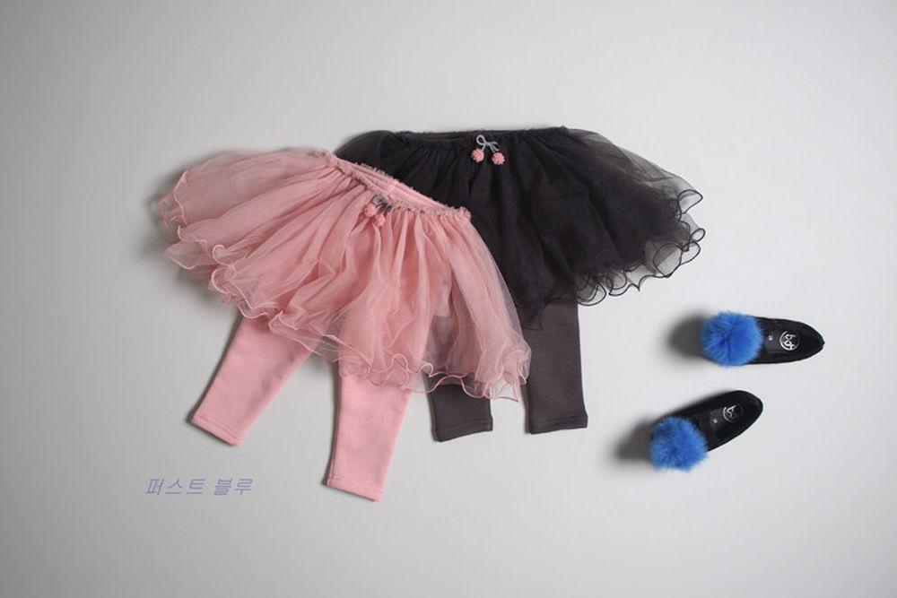 1ST BLUE - BRAND - Korean Children Fashion - #Kfashion4kids - Cha Skirt Leggings