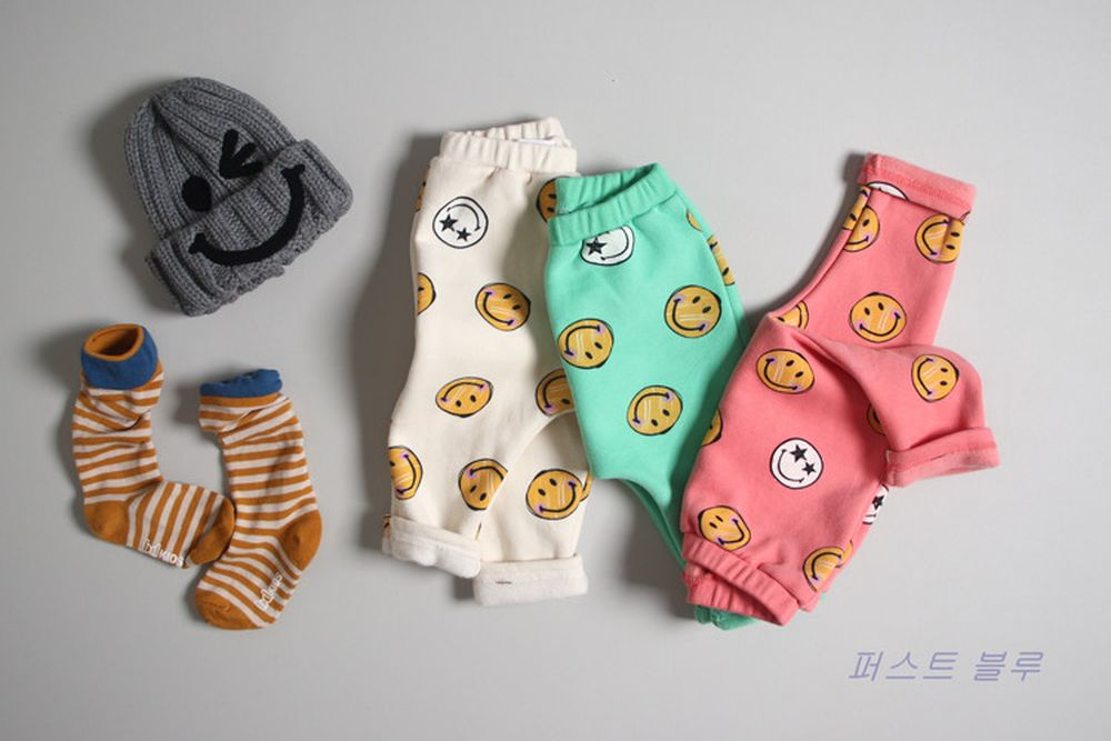 1ST BLUE - BRAND - Korean Children Fashion - #Kfashion4kids - Smile Day Pants